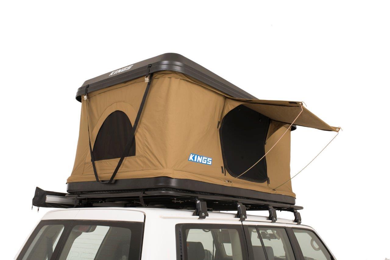 Adventure Kings Roof Top Tent kwiky hard shell rooftop tent   2min setup   100% waterproof   50mm  mattress   adventure kings