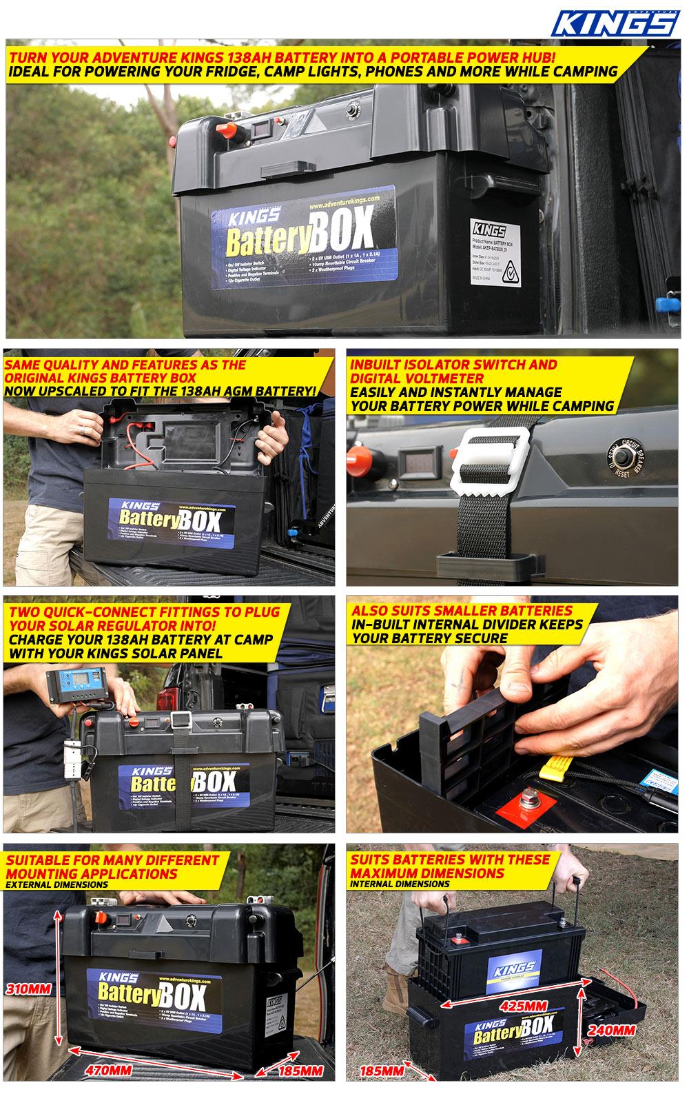 Adventure Kings Maxi Battery Box
